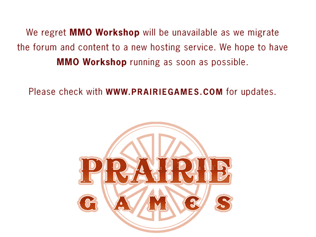 MMO Workshop notice